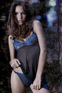 Assia Indigo Nightie