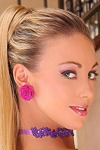 Luxxa Purple Style Earrings