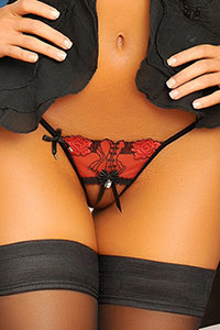 Marquise in Love Angelique Sauvage Open g-string